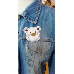 Broche SB Ours Blanc